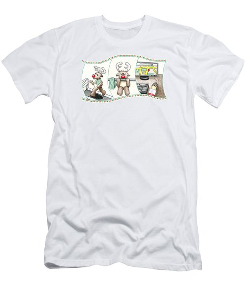 Men's T-Shirt (Slim Fit) featuring the drawing Right Before X'mas by Keiko Katsuta