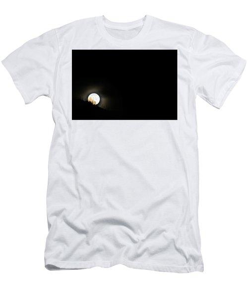 Men's T-Shirt (Slim Fit) featuring the photograph Rising Moon by Joel Loftus