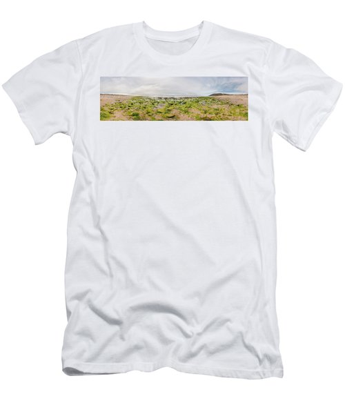 River Delta And Wetlands At Low Tide Men's T-Shirt (Athletic Fit)