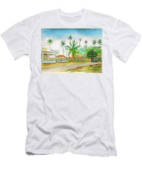 Roadside Food Stands Puerto Rico Men's T-Shirt (Slim Fit) by Frank Hunter