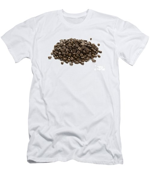 Men's T-Shirt (Slim Fit) featuring the photograph Roasted Coffee Beans by Lee Avison