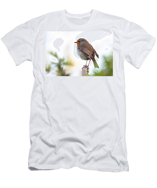 Robin On A Pole Men's T-Shirt (Athletic Fit)