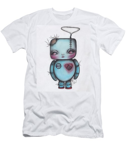 Robot Men's T-Shirt (Slim Fit) by Abril Andrade Griffith