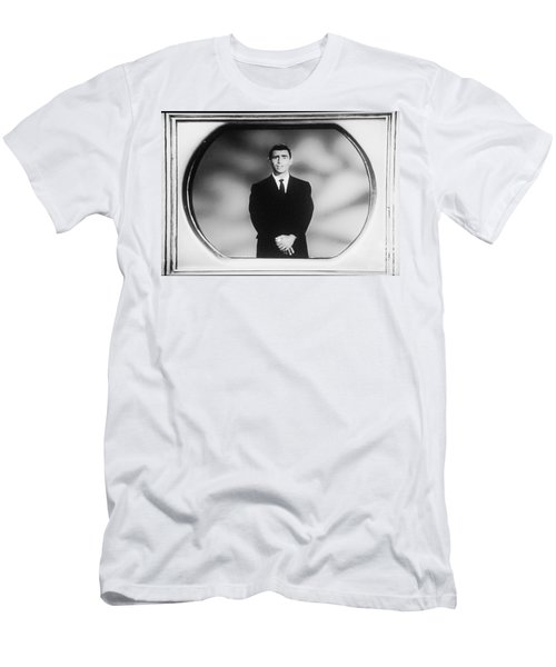 Rod Serling On T V Men's T-Shirt (Athletic Fit)