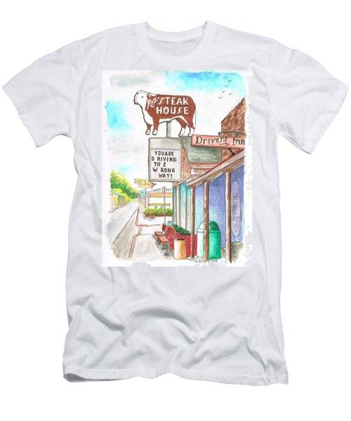 Rod's Steak House In Route 66 - Williams - Arizona Men's T-Shirt (Slim Fit) by Carlos G Groppa
