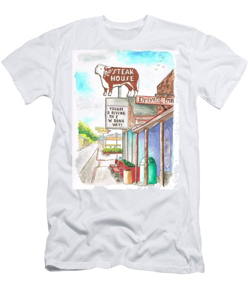 Rod's Steak House In Route 66 - Williams - Arizona Men's T-Shirt (Athletic Fit)