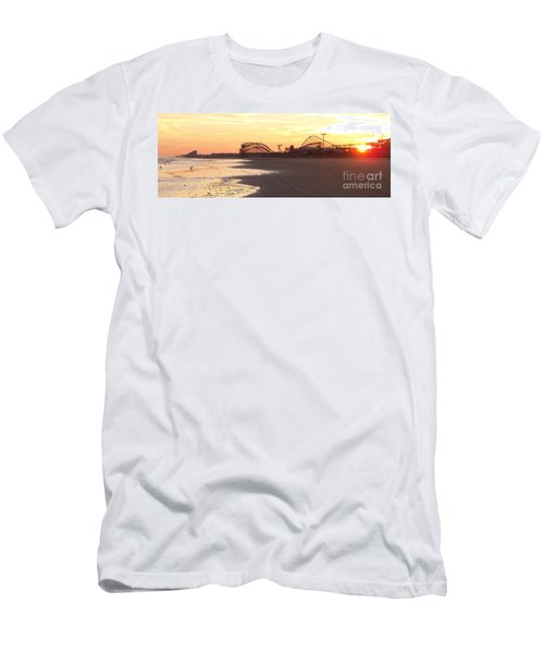 Roller Coaster Sunset Men's T-Shirt (Athletic Fit)