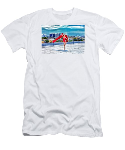 Roof Top Men's T-Shirt (Slim Fit) by Gregory Worsham