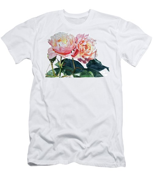 Pink And Yellow Rose Anne Men's T-Shirt (Athletic Fit)