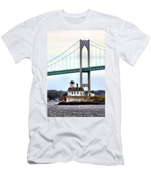 Rose Island Lighthouse Men's T-Shirt (Athletic Fit)