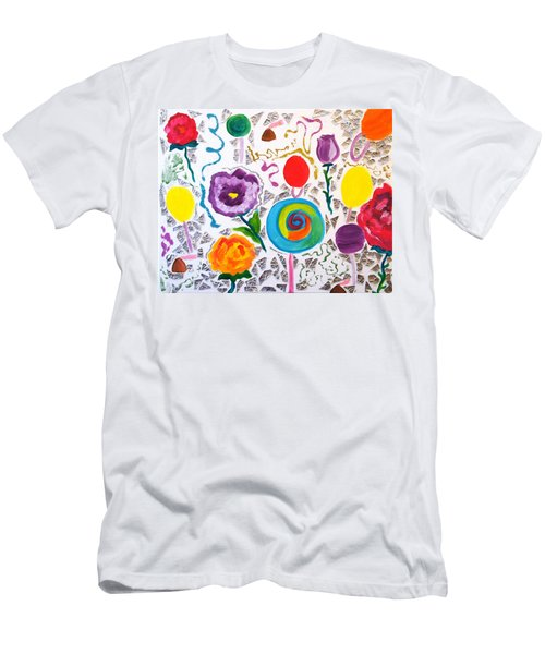 Roses And Lollipops For Mom Men's T-Shirt (Athletic Fit)