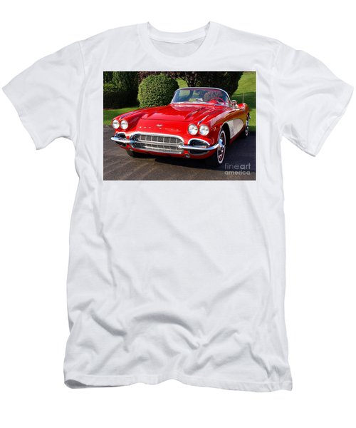 Route 66 - 1961 Corvette Men's T-Shirt (Athletic Fit)