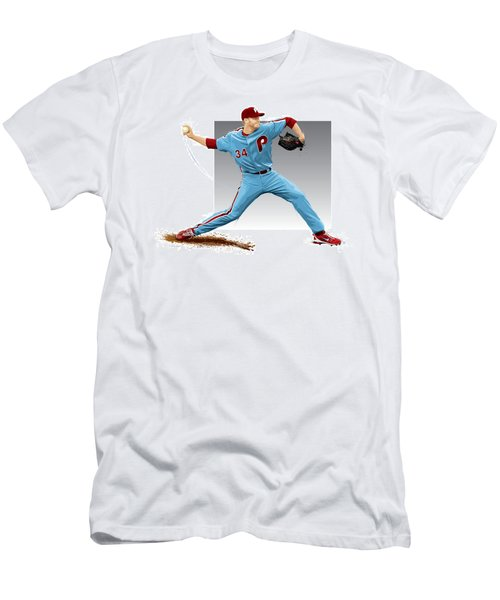 Roy Halladay Men's T-Shirt (Slim Fit) by Scott Weigner