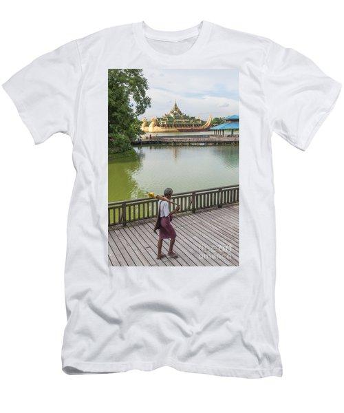Royal Barge In Yangon Myanmar  Men's T-Shirt (Athletic Fit)