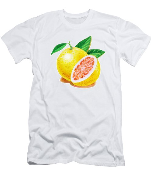 Ruby Red Grapefruit Men's T-Shirt (Slim Fit) by Irina Sztukowski