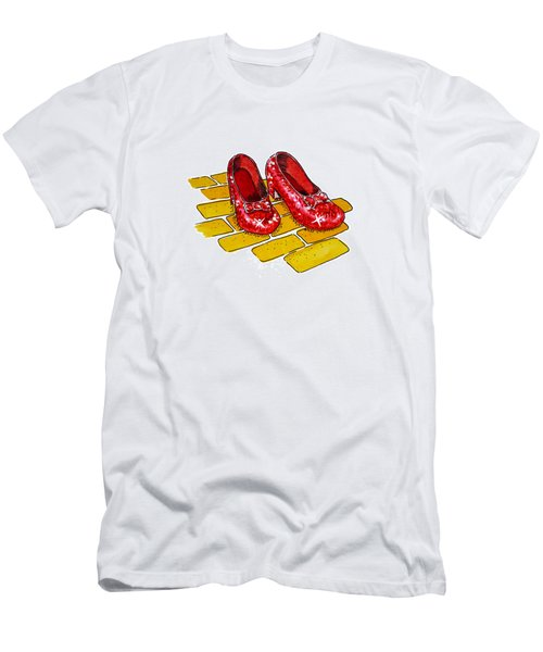 Ruby Slippers The Wizard Of Oz  Men's T-Shirt (Athletic Fit)