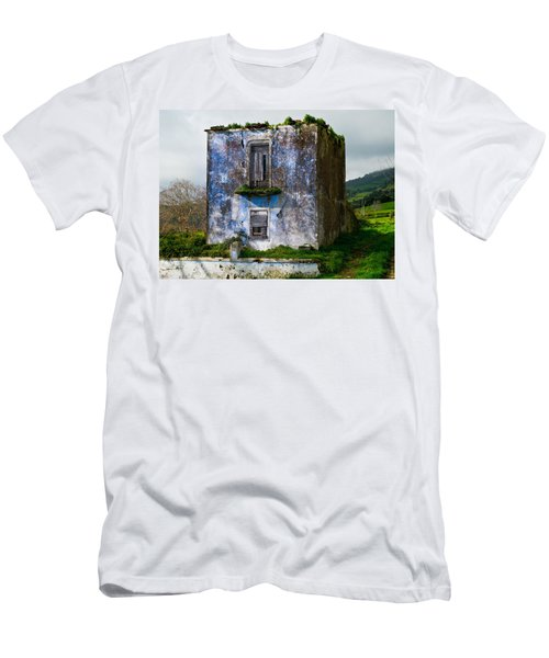 Ruins Of House Painted Blue Men's T-Shirt (Athletic Fit)