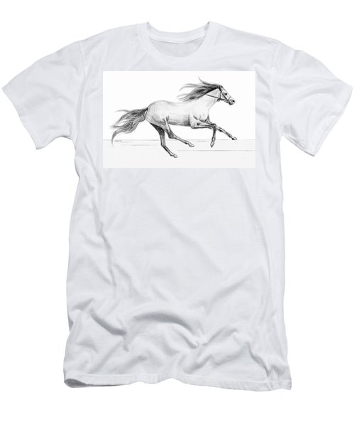 Men's T-Shirt (Slim Fit) featuring the drawing Runaway by Sophia Schmierer