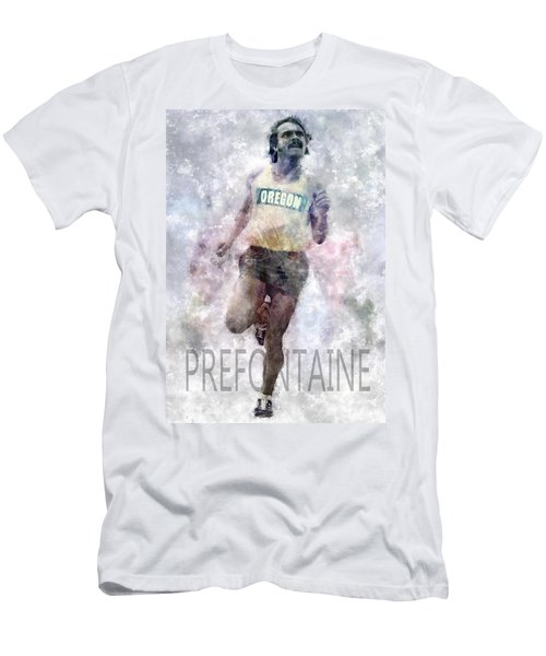 Running Legend Steve Prefontaine Men's T-Shirt (Athletic Fit)