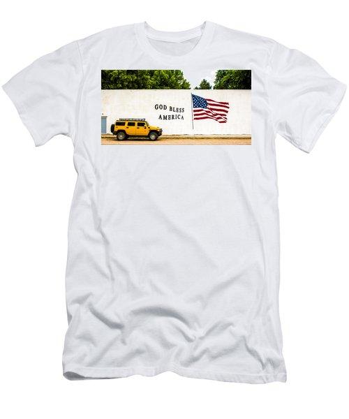 Rural America Wall Mural Men's T-Shirt (Slim Fit) by Bill Kesler