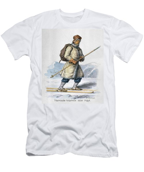 Russia Skier, 1830 Men's T-Shirt (Athletic Fit)