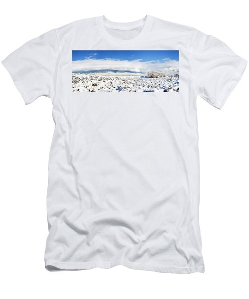 Sage Covered With Snow With Taos Men's T-Shirt (Athletic Fit)
