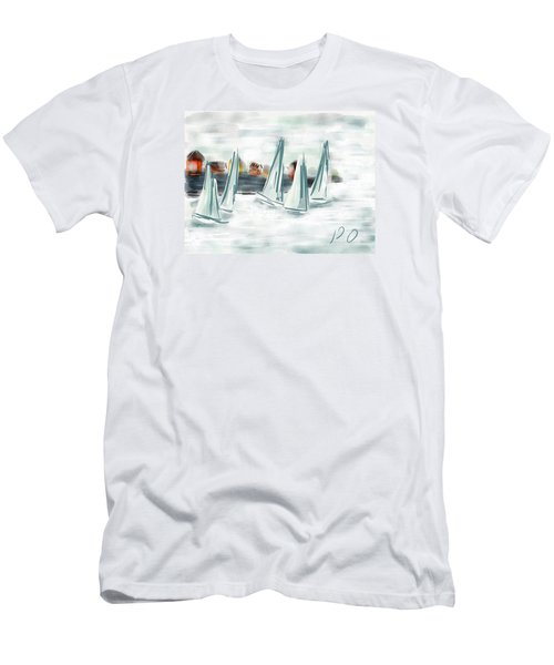 Sail Away With Me Men's T-Shirt (Slim Fit) by Patricia Olson