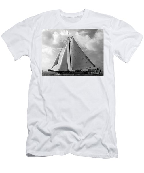 Men's T-Shirt (Athletic Fit) featuring the photograph Sail By by Luc Van de Steeg