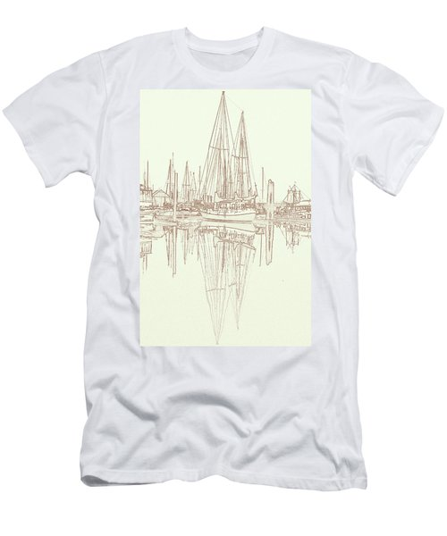 Men's T-Shirt (Slim Fit) featuring the photograph Sailboat On Liberty Bay by Greg Reed