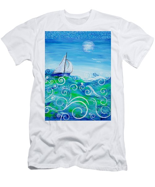 Sailing By Jan Marvin Men's T-Shirt (Athletic Fit)