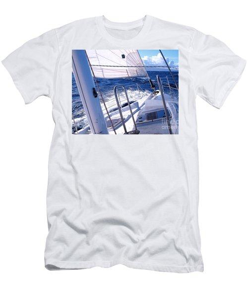 Sailing Hawaii Men's T-Shirt (Slim Fit) by Joseph J Stevens