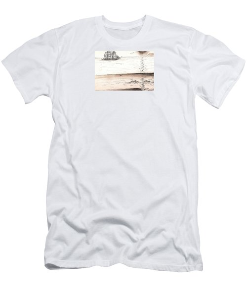 Sailing Into The Past Men's T-Shirt (Athletic Fit)