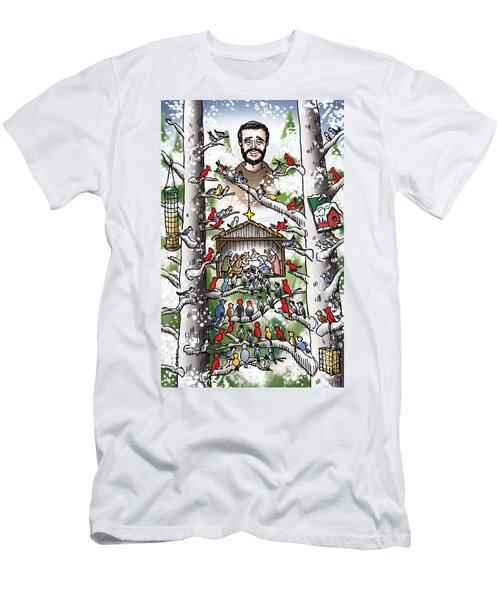 St. Francis And The Birds Men's T-Shirt (Athletic Fit)