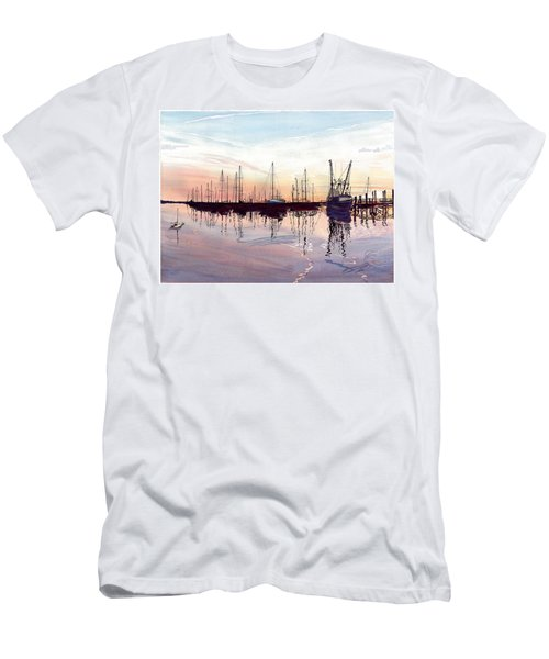 Saint Marys Marina   Shadows Light And Fire Men's T-Shirt (Athletic Fit)