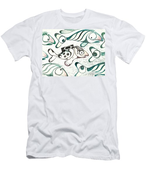 Salmon Boy The Swimmer Men's T-Shirt (Athletic Fit)