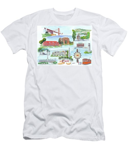 San Francisco Highlights Montage Men's T-Shirt (Slim Fit) by Mike Robles