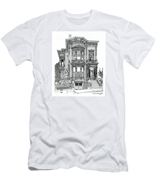 San Francisco Victorian   Men's T-Shirt (Slim Fit) by Ira Shander