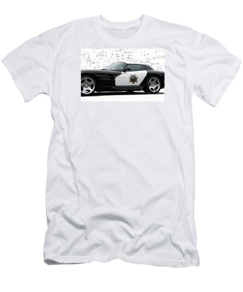 San Luis Obispo County Sheriff Viper Patrol Car Men's T-Shirt (Slim Fit)