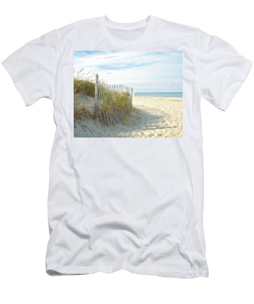Sand Beach Ocean And Dunes Men's T-Shirt (Slim Fit) by Brooke T Ryan