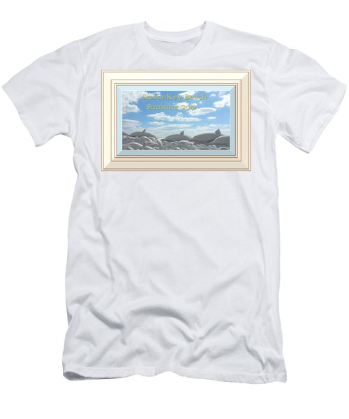 Sand Dolphins - Digitally Framed Men's T-Shirt (Athletic Fit)