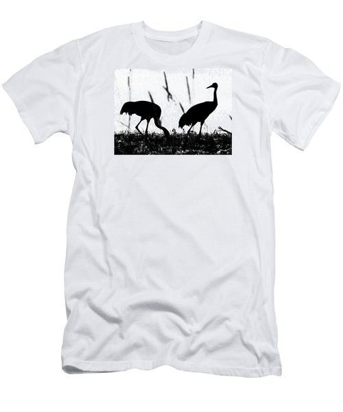 Sandhill Cranes In Silhouette Men's T-Shirt (Athletic Fit)