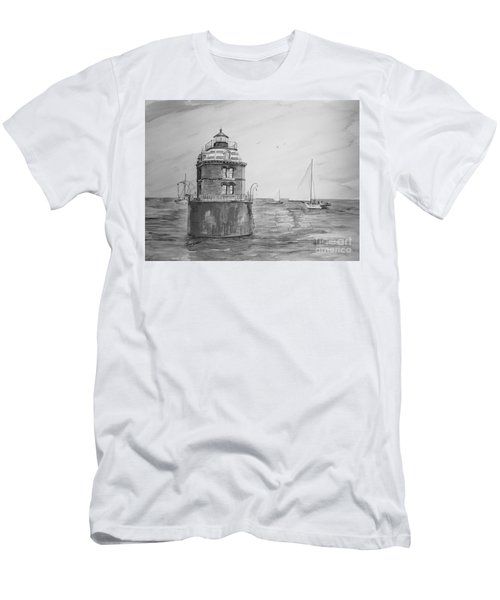 Sandy Point In Gray  Men's T-Shirt (Athletic Fit)