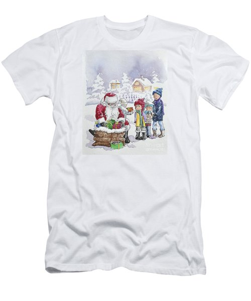 Santa And Children Men's T-Shirt (Athletic Fit)