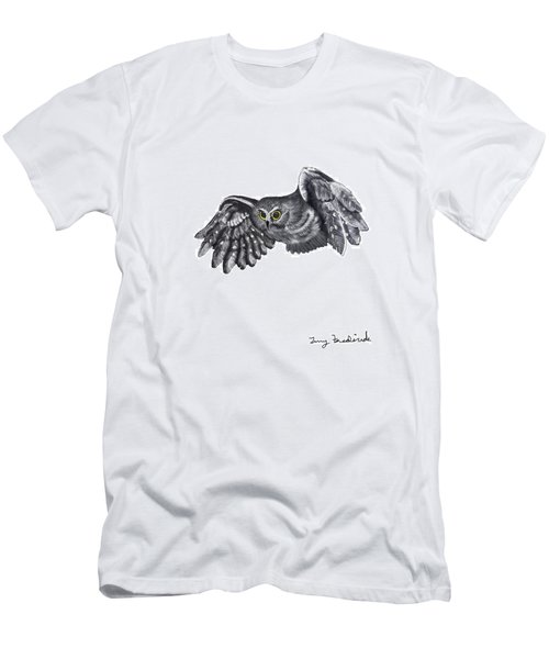 Saw-whet Owl Men's T-Shirt (Slim Fit) by Terry Frederick