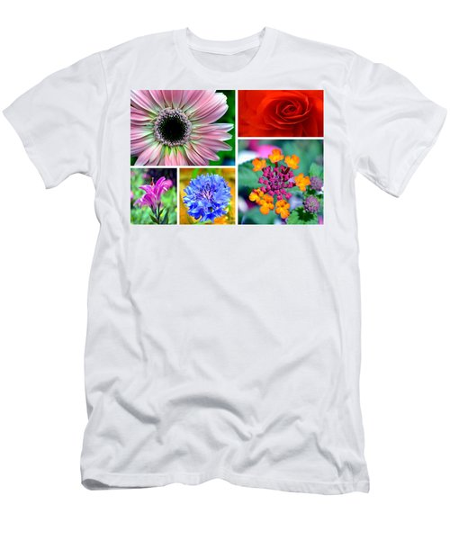 Say It With Flowers Men's T-Shirt (Slim Fit) by Deena Stoddard