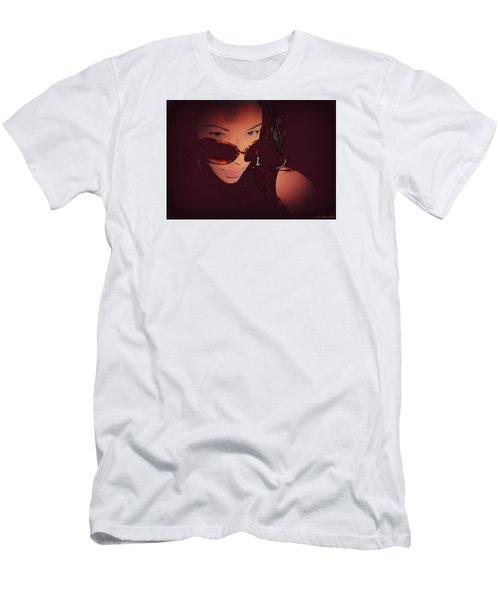 Scanned - Ai P. Nilson - Digital Art - Self Portrait Men's T-Shirt (Athletic Fit)