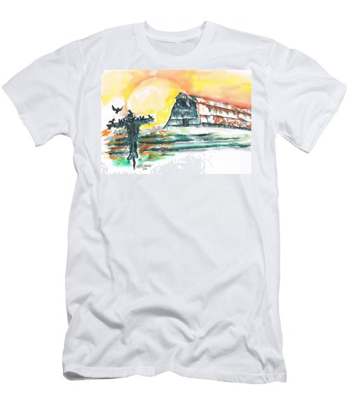 Scarecrow Welcomes The Morning Men's T-Shirt (Slim Fit) by Seth Weaver