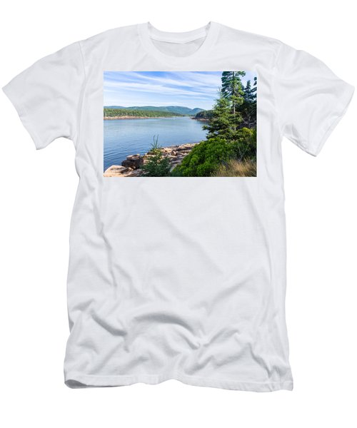 Men's T-Shirt (Athletic Fit) featuring the photograph Scenic Cove At Acadia National Park by John M Bailey
