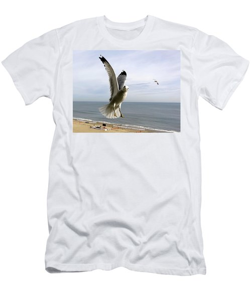 Inquisitive Seagull Men's T-Shirt (Athletic Fit)