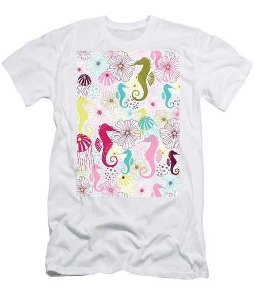 Seahorse Flora Men's T-Shirt (Athletic Fit)